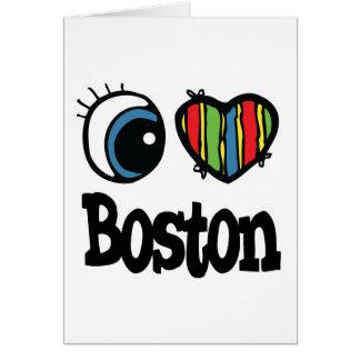 I Heart (Love) Boston Card