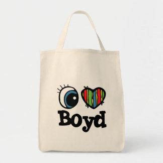 I Heart (Love) Boyd Grocery Tote Bag
