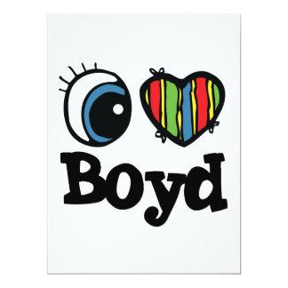 "I Heart (Love) Boyd 6.5"" X 8.75"" Invitation Card"