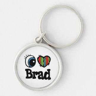 I Heart (Love) Brad Keychain