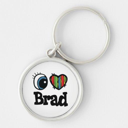I Heart (Love) Brad Key Chain