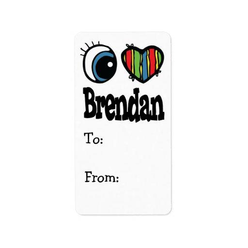 I Heart (Love) Brendan Address Label