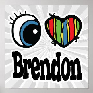 I Heart (Love) Brendon Poster