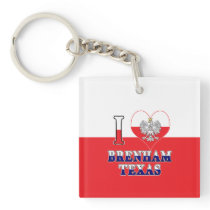I Heart Love Brenham Texas Keychain