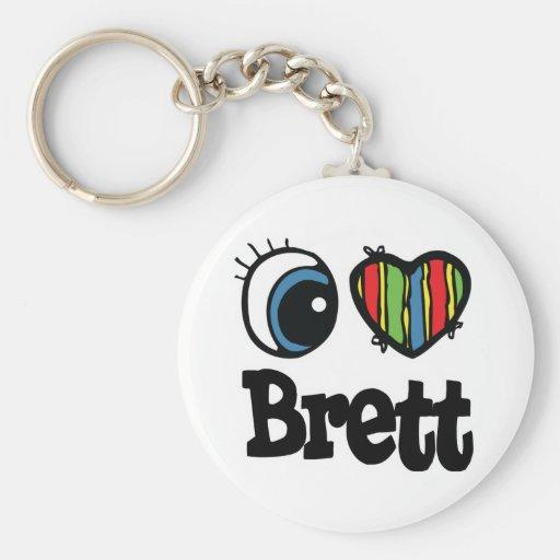 I Heart (Love) Brett Key Chains