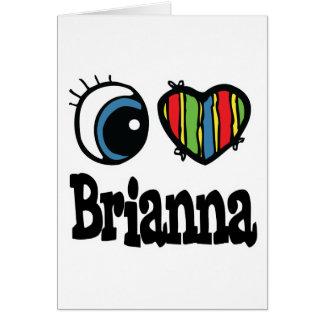 I Heart (Love) Brianna Card