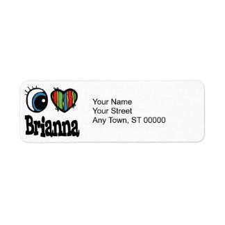 I Heart (Love) Brianna Label