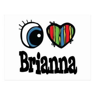 I Heart (Love) Brianna Postcard