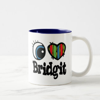 I Heart (Love) Bridgit Coffee Mugs