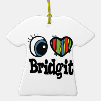 I Heart (Love) Bridgit Ornament