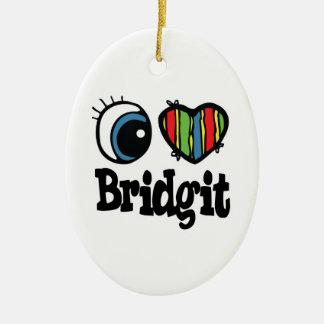 I Heart (Love) Bridgit Christmas Ornaments
