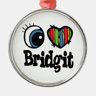 I Heart (Love) Bridgit Christmas Ornament
