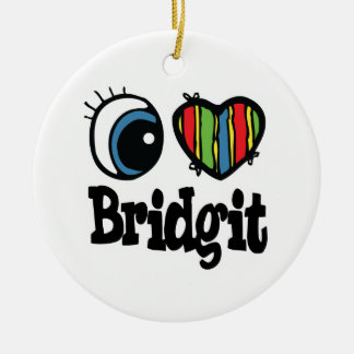 I Heart (Love) Bridgit Christmas Tree Ornament