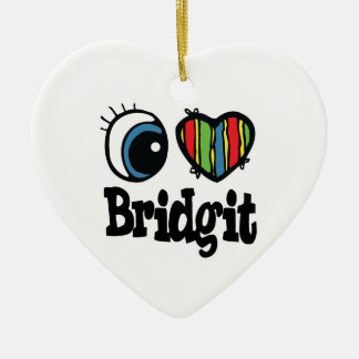 I Heart (Love) Bridgit Ornaments
