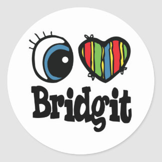 I Heart (Love) Bridgit Sticker