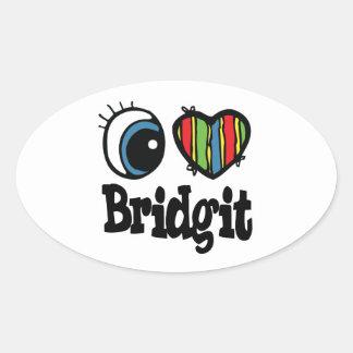I Heart (Love) Bridgit Stickers