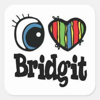 I Heart (Love) Bridgit Square Sticker