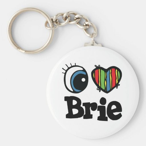 I Heart (Love) Brie Key Chain