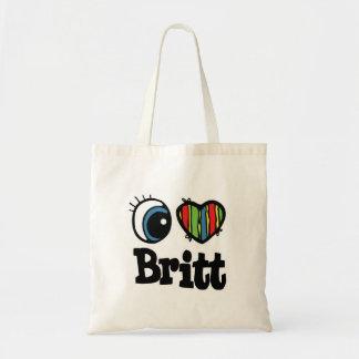 I Heart (Love) Britt Canvas Bags