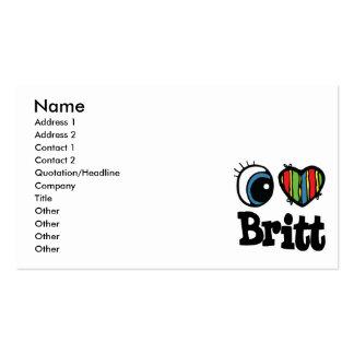 I Heart (Love) Britt Business Card