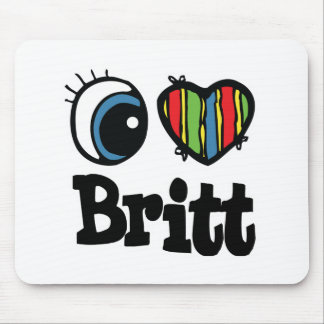 I Heart (Love) Britt Mouse Pad