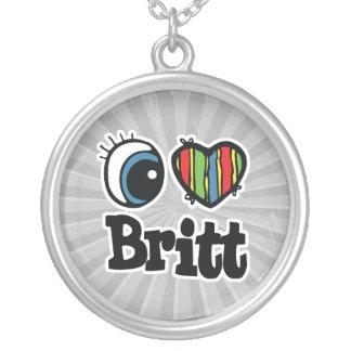 I Heart (Love) Britt Round Pendant Necklace