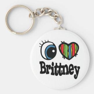 I Heart (Love) Brittney Keychains