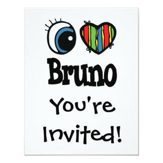 I Heart (Love) Bruno 4.25x5.5 Paper Invitation Card