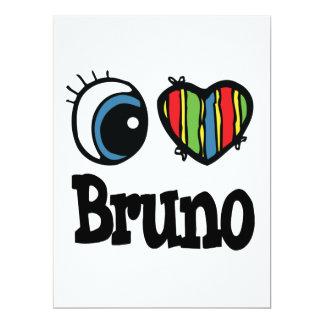 I Heart (Love) Bruno 6.5x8.75 Paper Invitation Card