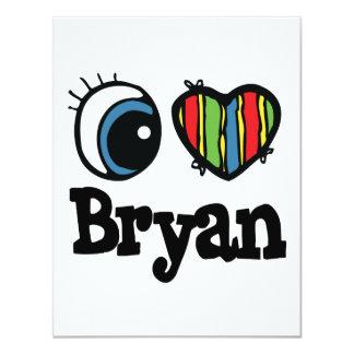 I Heart (Love) Bryan 4.25x5.5 Paper Invitation Card
