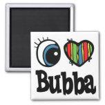 I Heart (Love) Bubba 2 Inch Square Magnet