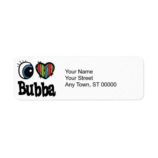 I Heart (Love) Bubba Custom Return Address Labels
