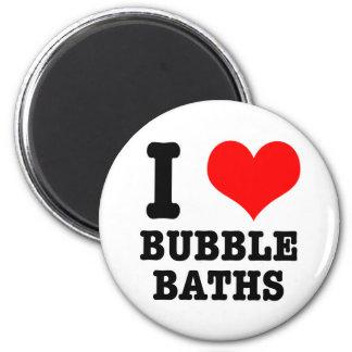 I HEART (LOVE) BUBBLE BATHS REFRIGERATOR MAGNETS