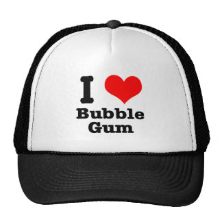 I HEART LOVE bubble gum Mesh Hat