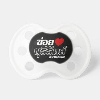 I Heart (Love) Buriram, Isan, Thailand Baby Pacifiers