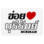 I Heart (Love) Buriram, Isan, Thailand Vinyl Magnets