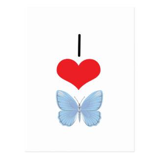 I Heart (Love) Butterflies  Postcard