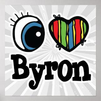 I Heart (Love) Byron Poster