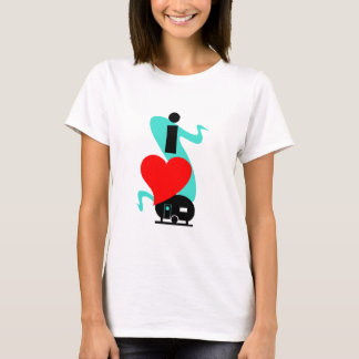 I Heart Love Camping Travel Trailer camp T-Shirt