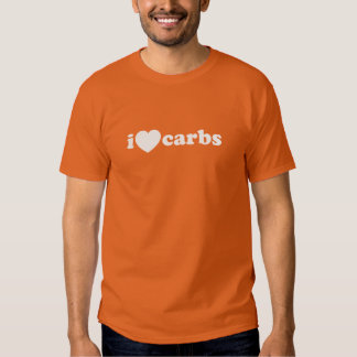 I HEART LOVE CARBS CARBOHYDRATES T-SHIRT