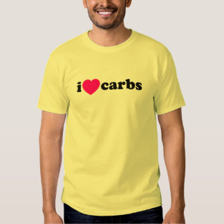 I HEART LOVE CARBS CARBOHYDRATES TEE SHIRT
