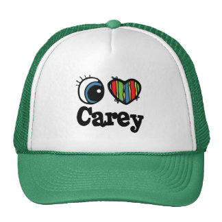 I Heart (Love) Carey Trucker Hat