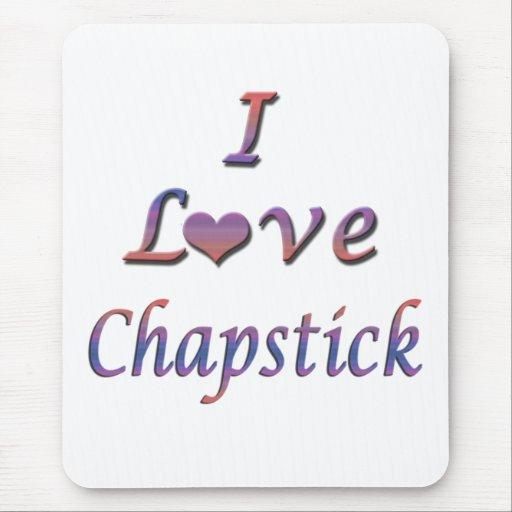 I Heart (Love) Chapstick Mouse Mat
