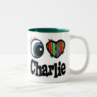 I Heart (Love) Charlie Two-Tone Coffee Mug