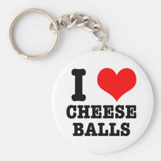 I HEART (LOVE) CHEESE BALLS KEYCHAIN