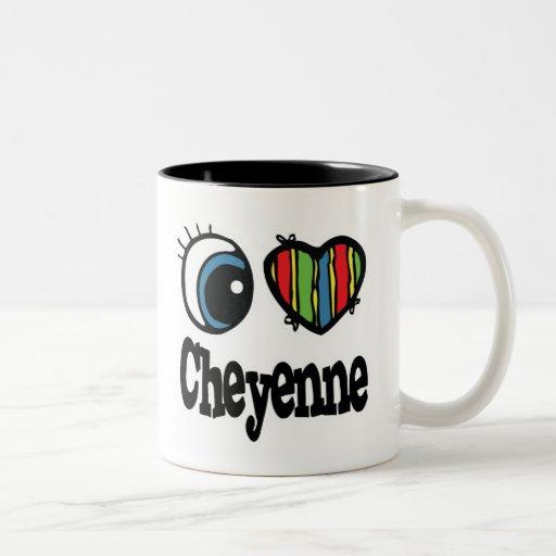 I Heart (Love) Cheyenne Two-Tone Coffee Mug