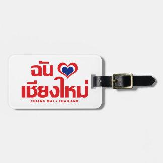 I Heart (Love) Chiang Mai ❤ Thailand Luggage Tag