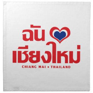 I Heart (Love) Chiang Mai ❤ Thailand Napkin