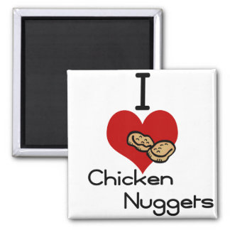 I heart-love chicken nuggets magnet