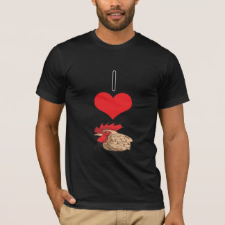 I Heart (Love) Chickens,Rooster T-Shirt